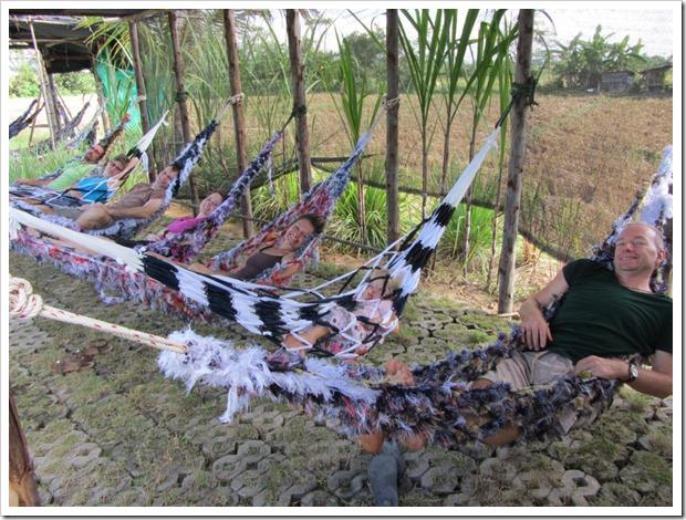 friends in hammock