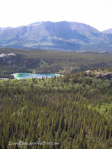 Our view of Emerald Lake after we crossed the swampy valley and started our ascent of the mountain.