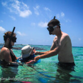 Snorkeling in Ambergris Caye, Belize