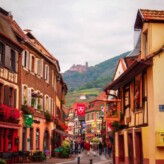 Ribeauville, France in the Alsace Region