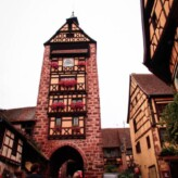 The Old Medieval Town of Riquewihr, France